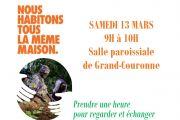 Samedi 13.03 à 9H temps de partage Eglise verte et CCFD